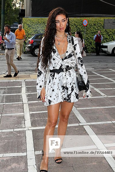 Greek singer ELENI FOUREIRA attends at the Philipp Plein opening store in the center of Athens.