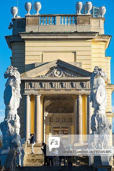 The Gloriette in the Schönbrunn Palace Garden  Vienna  Austria.
