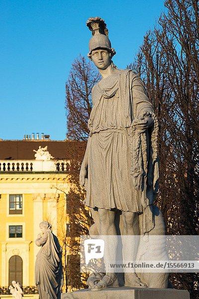 Statues at Schönbrunn Palace  Vienna. Austria.