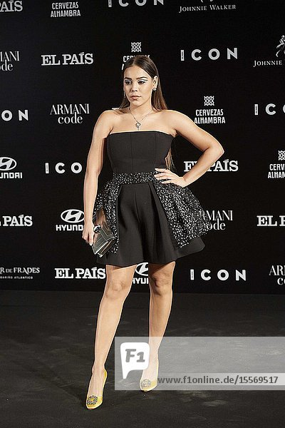 Danna Paola attends ICON Awards 2019 at Real Fabrica de Tapices on October 9  2019 in Madrid  Spain