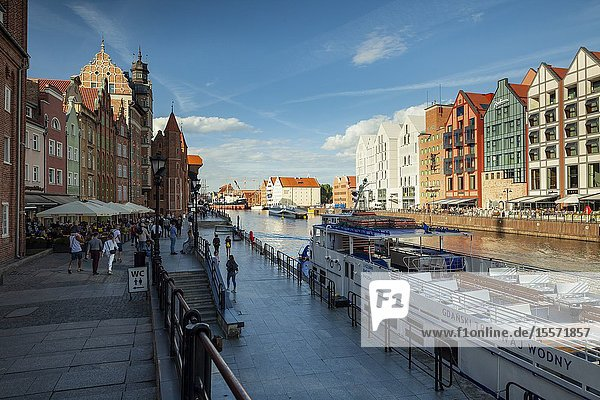 Summer afternoon in Gdansk old town  Poland.