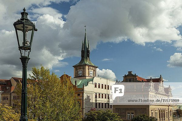 Autumn afternoon in Prague  Czechia.