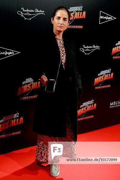 """Carolina Herrera Attends the photocall of the movie """"Los Rodríguez y el más allá ..October 23  2019 Callao cinema  Madrid."""