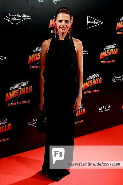 """The Actress Macarena Gomez Attends the photocall of the movie """"Los Rodríguez y el más allá ..October 23  2019 Callao cinema  Madrid."""