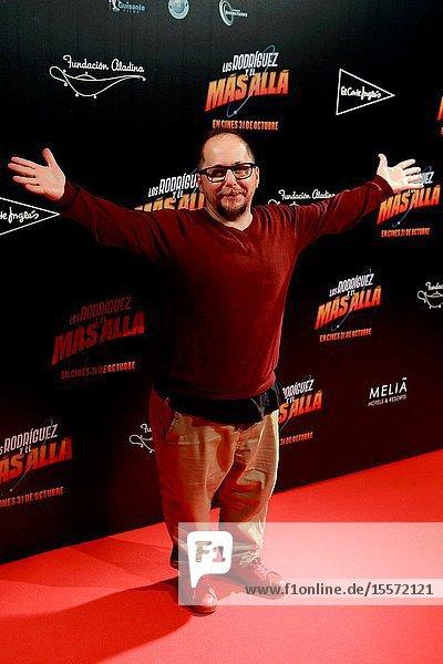 """The actor Tomas Pozzi Attends the photocall of the movie """"Los Rodríguez y el más allá ..October 23  2019 Callao cinema  Madrid."""