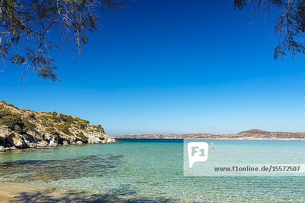 Achivadolimni beach  Milos island  Cyclades  Greece