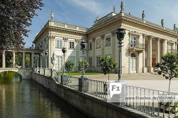 Summer in Lazienki (Royal Baths) Park  Warsaw  Poland.