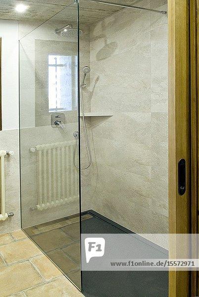 Shower space  location girona  catalonia  spain.