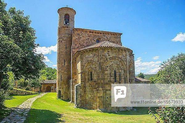 Romanesque church. San Martin de Elines  Cantabria  Spain.