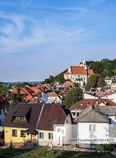 Townscape with John the Baptist Church  elevated view  Kazimierz Dolny  Lublin Voivodeship  Poland.