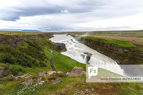 View of Gullfoss Waterfall. Iceland.