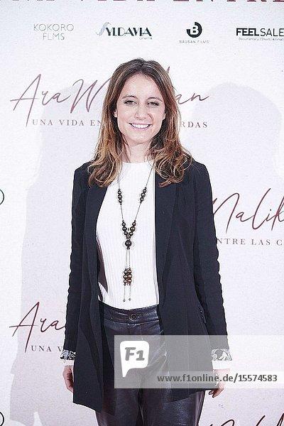 Andrea Levy attends 'Ara Malikian: una vida entre las cuerdas' premiere at Callao Cinema on October 23  2019 in Madrid  Spain