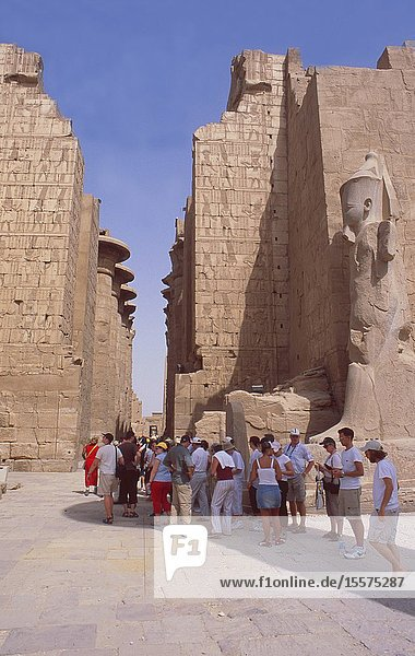 Egypt : The Unesco World Heritage Tempel from Amun-Re in Karnak near Luxor.