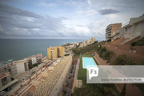 Aerial view from Cullera in Valencia province Spain.