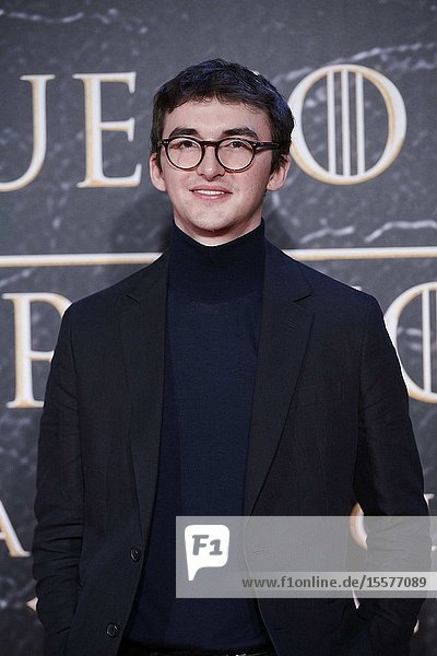 Isaac Hempstead-Wright attends the opening of 'Game Of Thrones. The Official Exhibition' at Espacio 5.1 IFEMA on October 24  2019 in Madrid  Spain