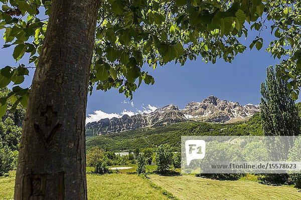 View of Partacua Mountain Range  Tena Valley  Pyrenees (Huesca province  Aragón  Spain)
