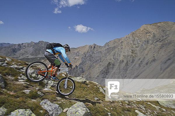 Frankreich  Dauphine  Vaujany  Biker-Mountainbike