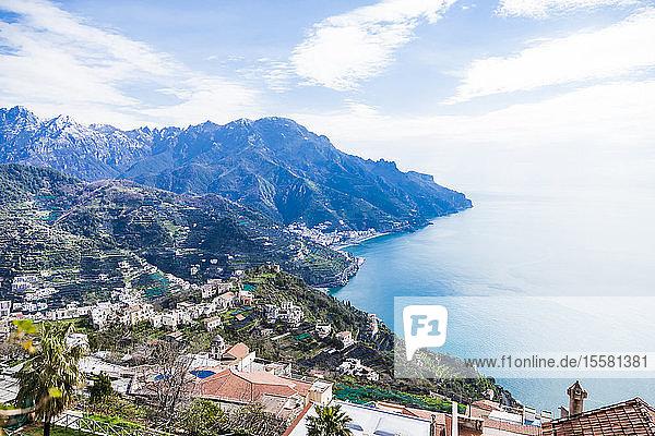 Italy  Campania  Amalfi Coast  Ravello  south view of the Amalfi Coast and Mediterranean sea