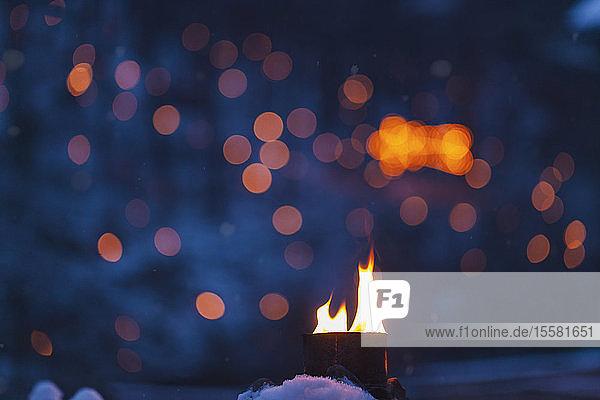 Flammen im Winter