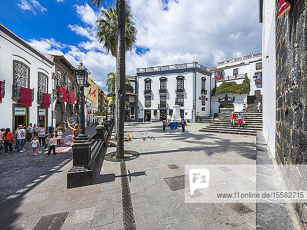 Spanien  Kanarische Inseln  Santa Cruz de la Palma  Plaza de Espana