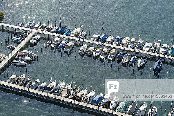 Deutschland  Baden-Württemberg  Bodensee  Konstanz  Luftbild des Yachthafens