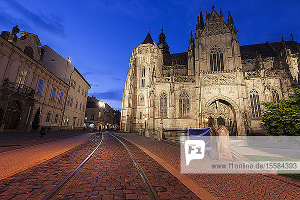 St. Elisabeth Cathedral at sunset in Kosice  Slovakia