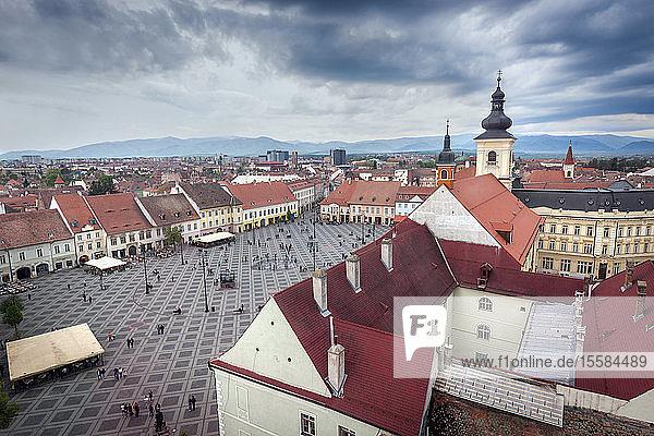 Grand Square in Sibiu  Romania