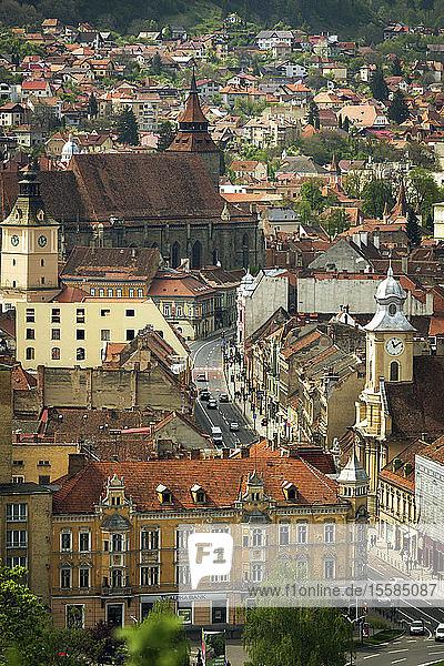 Cityscape of old buildings in Brasov  Romania