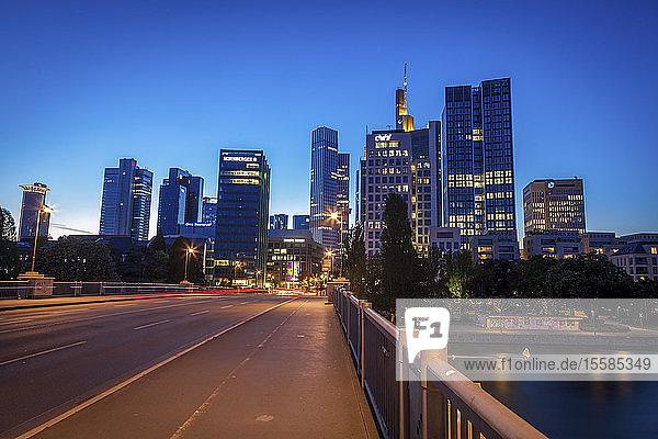 Modern skyline of Frankfurt  Germany