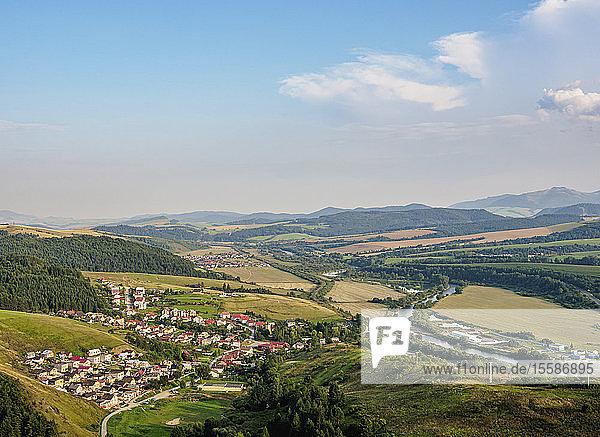 Landscape of Stara Lubovna  elevated view  Presov Region  Slovakia