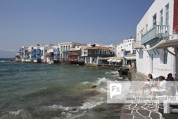 Little Venice  Mykonos Town  Mykonos Island  Cyclades Group  Greek Islands  Greece