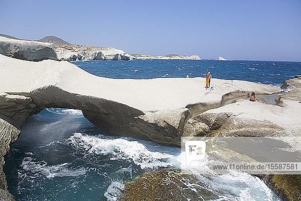 Sarakiniko Beach  Milos Island  Cyclades Group  Greek Islands  Greece