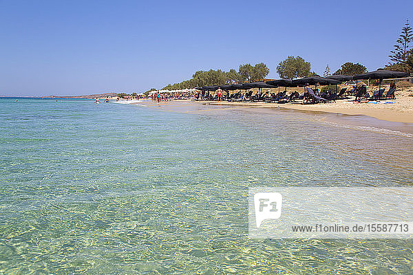 Plaka Beach  Naxos Island  Cyclades Group  Greek Islands  Greece