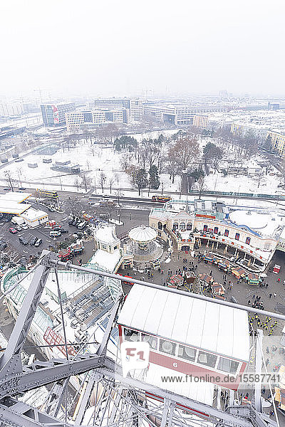 Ferris wheel of Prater Amusement Park  Vienna  Austria