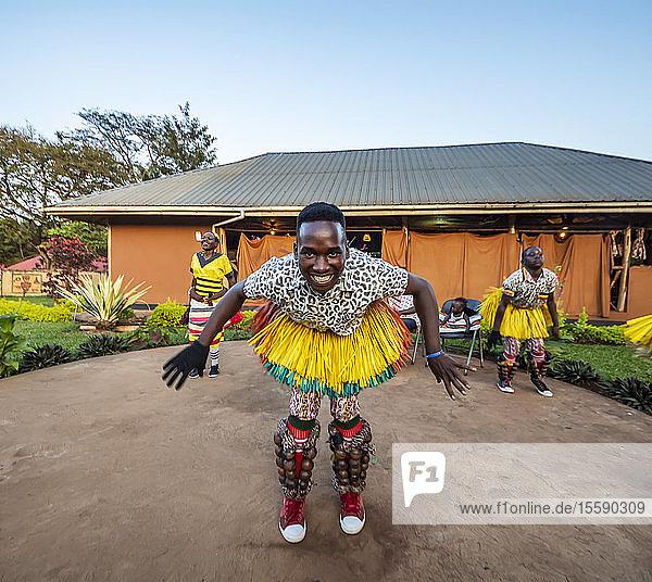 Bunyoro dancers  Hoima Cultural Lodge; Hoima  Western Region  Uganda