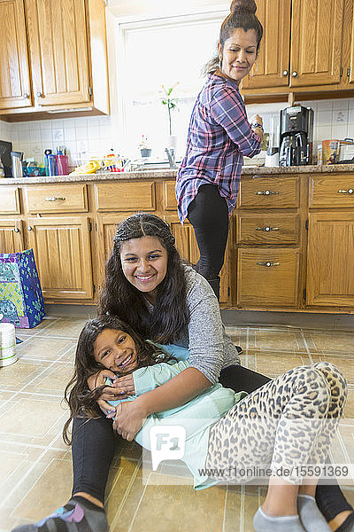 Teen with Autism and her family