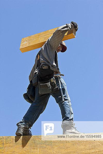 Carpenter carrying beam