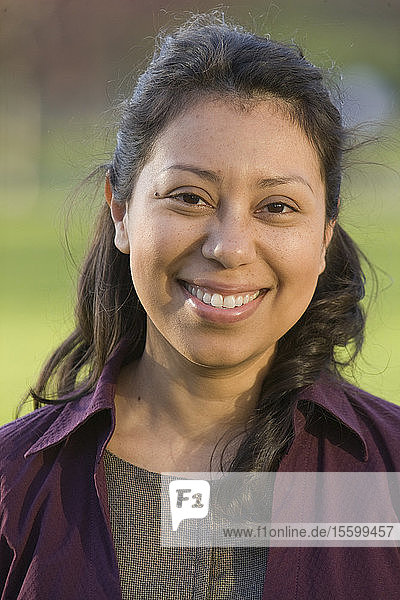 Portrait of an Hispanic woman smiling