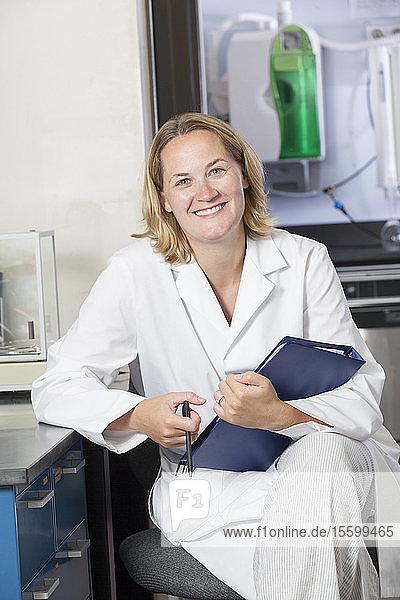 Portrait of a female scientist smiling
