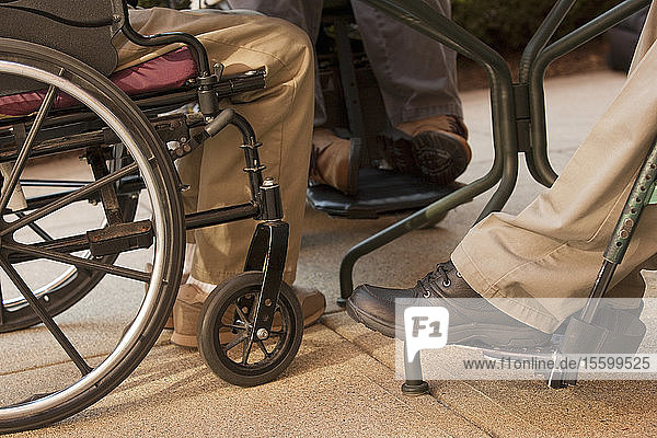 Business men in wheelchairs
