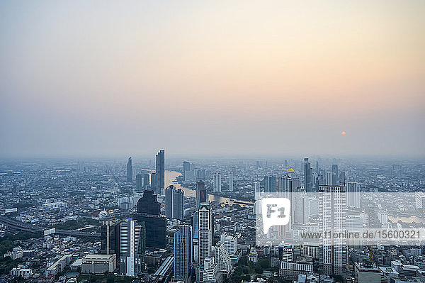 Overlooking Bangkok from it's highest vantage point; Bangkok  Thailand