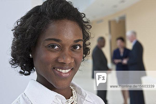 Portrait of a Jamaican businesswoman smiling