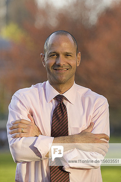 Portrait of an Hispanic businessman smiling
