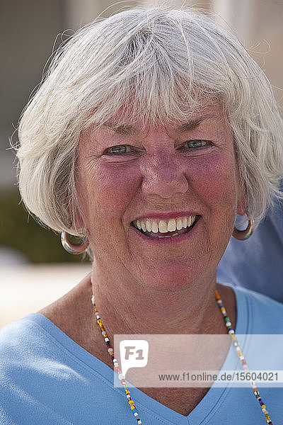 Close-up of a woman laughing