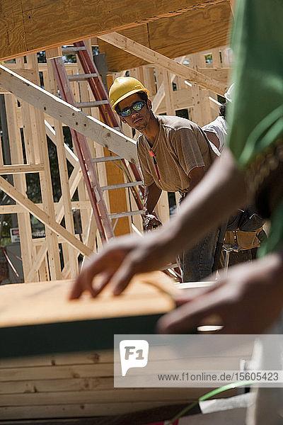 Carpenters measuring beam
