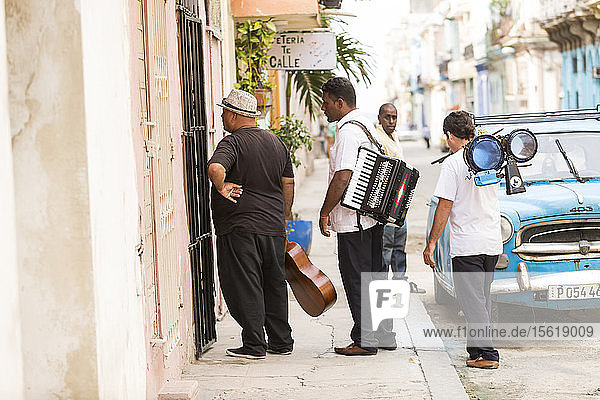 Cuban musicians on the streets of Havana
