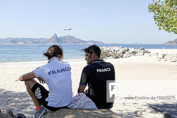 Rio de Janeiro Olympic Test Event - F?�d?�ration Fran?�aise de Voile. 2015 Aquece RSXW  Picon.