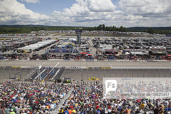 View from the crowd at the New Hampshire 301 NASCAR Sprint Cup