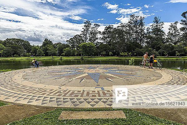 Parque Ibirapuera (Ibirapuera Park) in central S?ï¾£o Paulo  Brazil