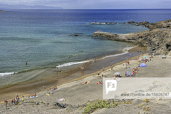 High Angle View Of A San Roque Beach In Tenerife  Canary Islands  Spain